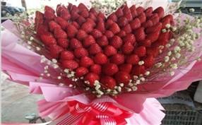 采摘草莓花束制作